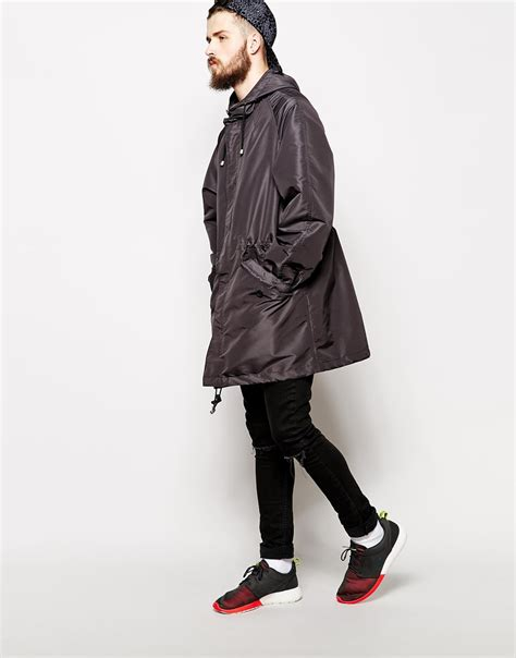 Asos Parka by Lyst Asos Parka In Oversized Fit In Gray For