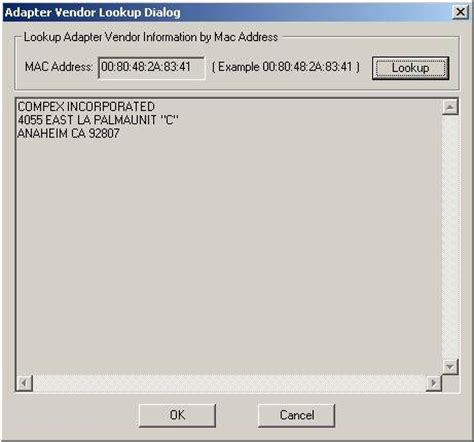 Whois Mac Address Lookup Mac Vendor Lookup Network Utilities