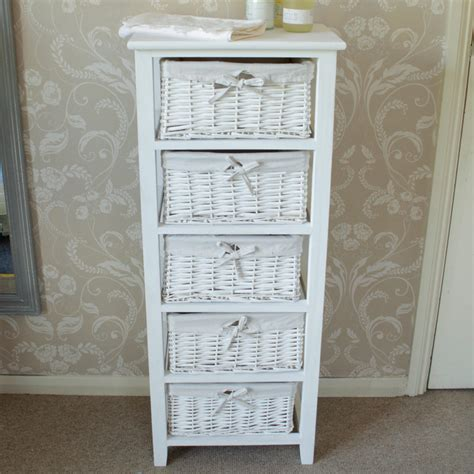 White Wicker Storage Drawers by White Wicker 2 Drawer Storage Unit