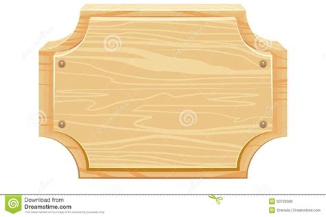 woodworking rounded corners wooden signboard with rounded corners stock vector image