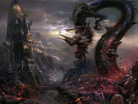 lay monster town a scary and awesome tower defense gothic dark art fantasy dragon picture nr 55917