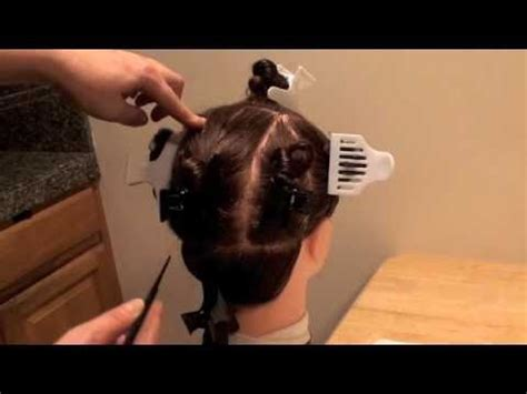 perm sections cosmetology perm 9 sections for state board youtube