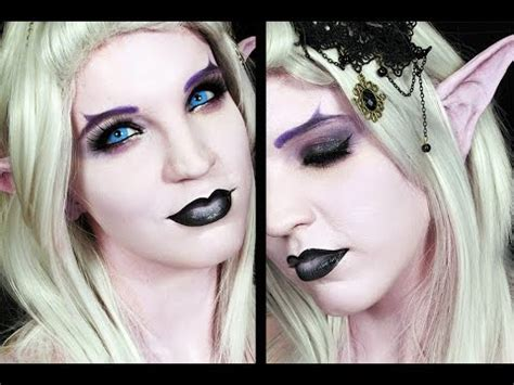 tutorial makeup elf dark elf halloween makeup tutorial youtube
