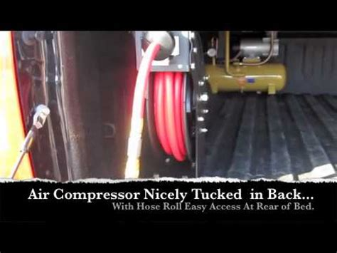 truck bed air compressor jump start kit air compressor in bed falcon light bar install youtube