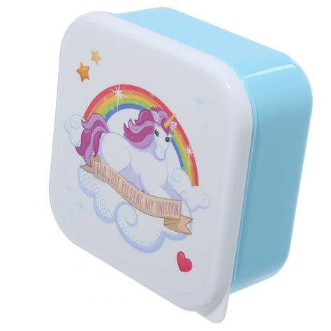 unicorn lunch snack boxes small medium large