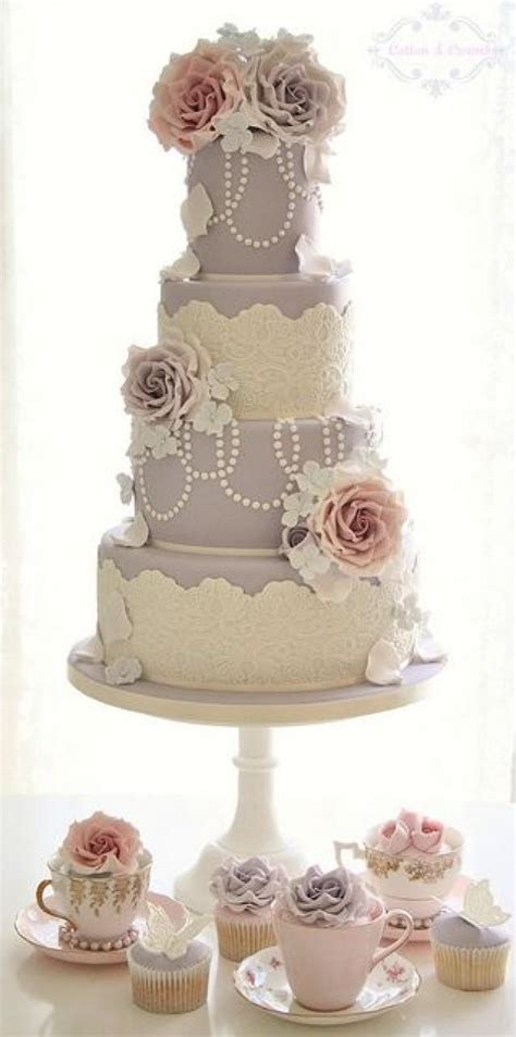 Hochzeitstorte Pastell by Pastel Wedding Pastel Vintage Inspired Wedding Cake