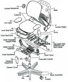 Office Chair Assembly Drawing Steelcase Leap Work Chair