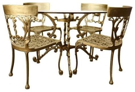 Cast Iron Dining Table And Chairs Gold Italian Cast Iron Table Chairs Midcentury Dining Tables Vancouver By Ford