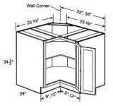 All wood easy reach corner base cabinet 36 quot ezr36