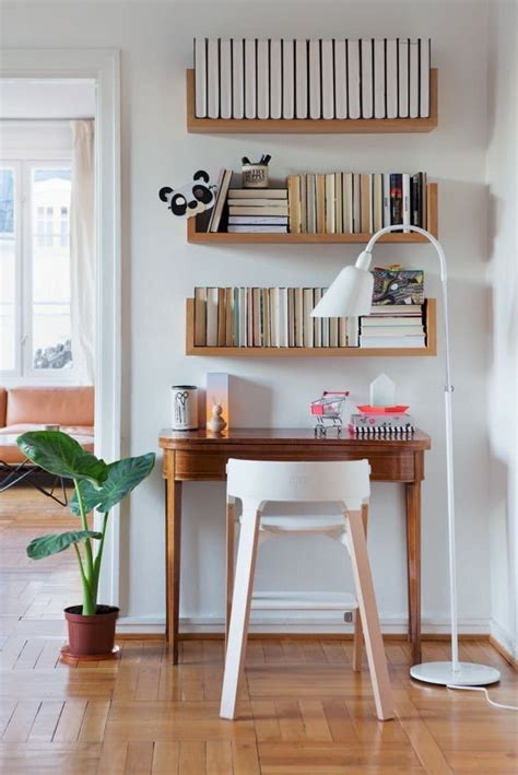 Small Desk With Shelves by 25 Best Ideas About Shelves Above Desk On