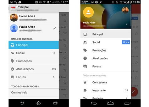 layout menu lateral testamos o novo gmail 5 0 com material design veja o que