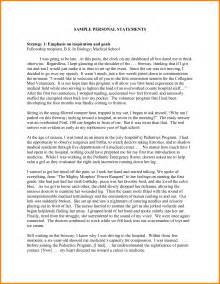 Personal Essay Thesis Statement Exles by 8 Mba Personal Statement Sle Essays Statement 2017