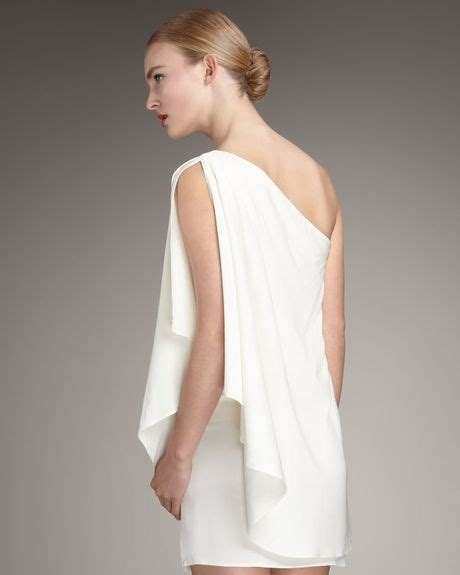draped grecian dress rachel zoe draped grecian dress in white lyst