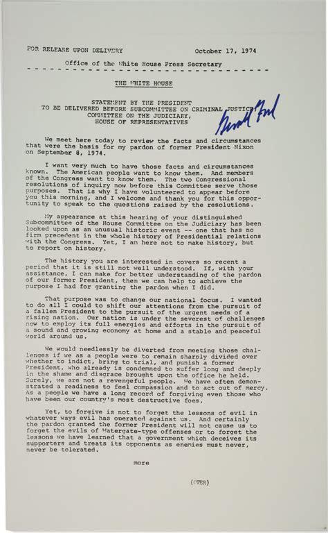 Nixon Copy president ford s statement on pardoning richard nixon