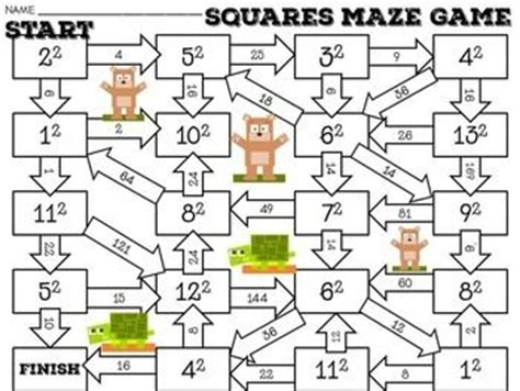 printable exponent games exponents activity maze activities maze and maze game