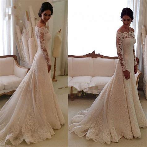 Garden Dresses 2015 Lace Wedding Dresses White Ivory The Shoulder