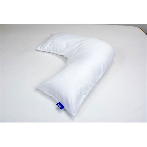 Shaped Pillow by Contour Products L Shaped Pillow With Pillowcase Bundle