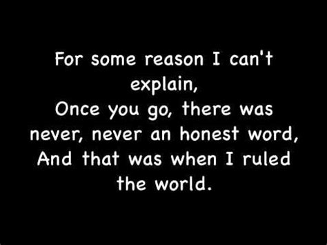 coldplay rule the world lyrics viva la vida by coldplay lyrics this song is about the