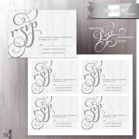 free printable wedding invitations and rsvp cards unavailable listing on etsy