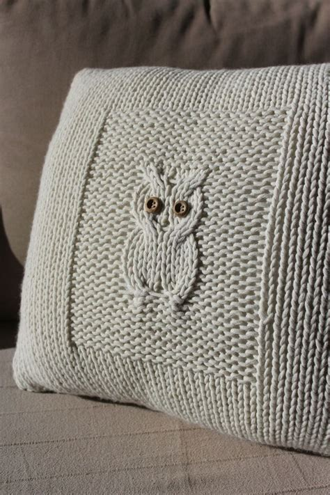 knitted owl cushion best 25 knitted cushions ideas on knitted