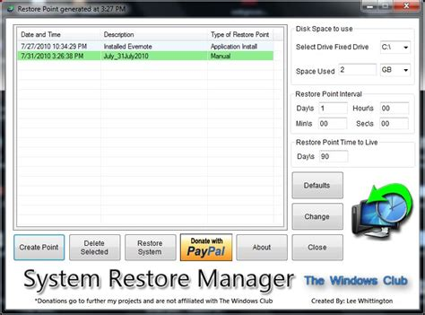 resetting windows vista to earlier date system restore manager restore factory settings in