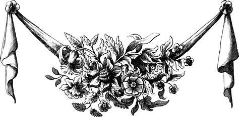 vintage illustration vintage illustration floral fruit swag oh so nifty