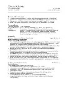 Machine Operator Resume Exles by Machine Operator Resume Best Template Collection
