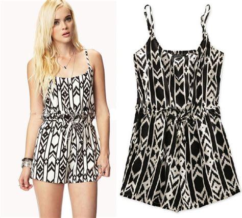 Jumpsuit Dress Motif 6191 10 2014 summer fashion geometric patterns cotton black