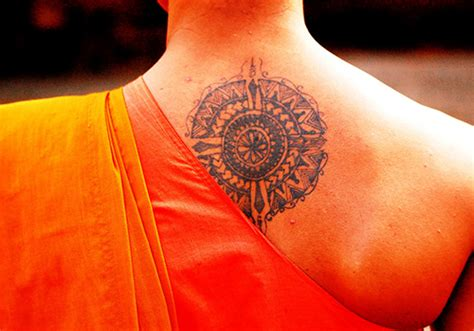buddhist monk tattoos designs 30 peaceful buddhist tattoos creativefan
