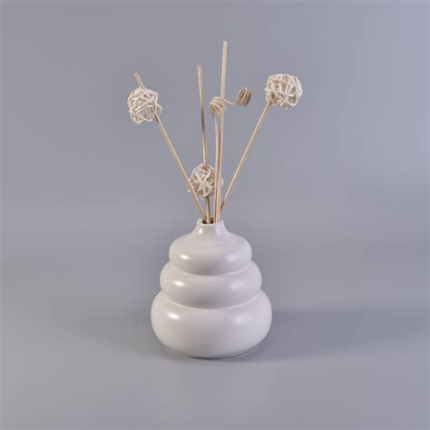 Handmade Bottles - white unique handmade ceramic diffuse bottles wholeasle