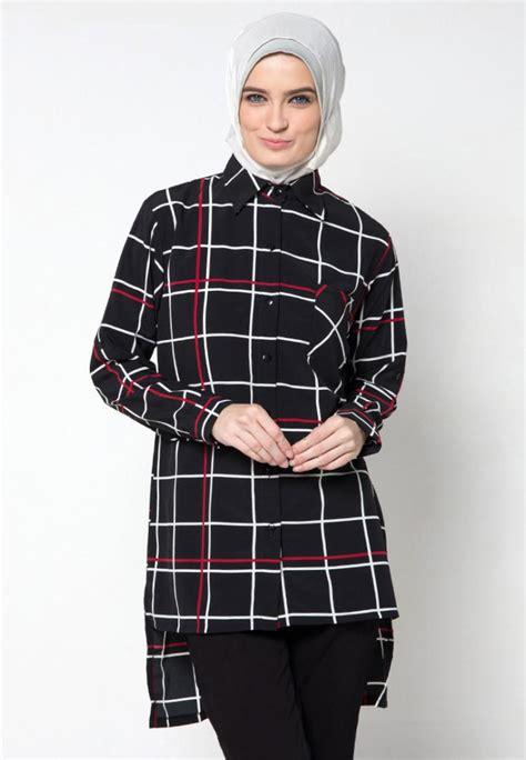Baju Cewek Pakaian Wanita Jumpsuit Hitam Putih Aksen Brukat Clo194 Motif Trend Terbaru Model Baju Muslim Modis 2016
