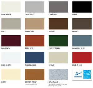 metal roofing colors metal roofing colors