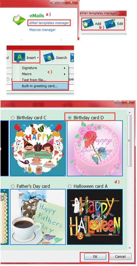 How To Send An E Gift Card - how to send an ecard in ams birthday edition automailer software