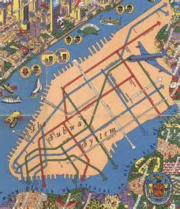 Map Of New York New York by Amazing Detailed Graphic Designer S Map From The 1950s