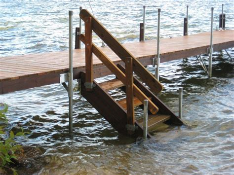 how to build a boat ladder j mac s custom wood docks