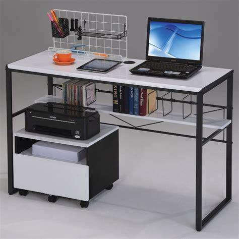 Modern Black Computer Desk Ellis Computer Desk In Black And White Modern Desks And Hutches
