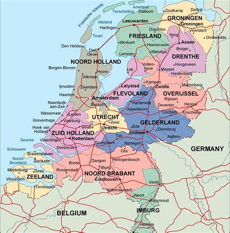 netherlands map city netherlands political map illustrator vector eps maps