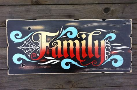 tattoo hand painted signs items similar to family painting sign and wall art hand