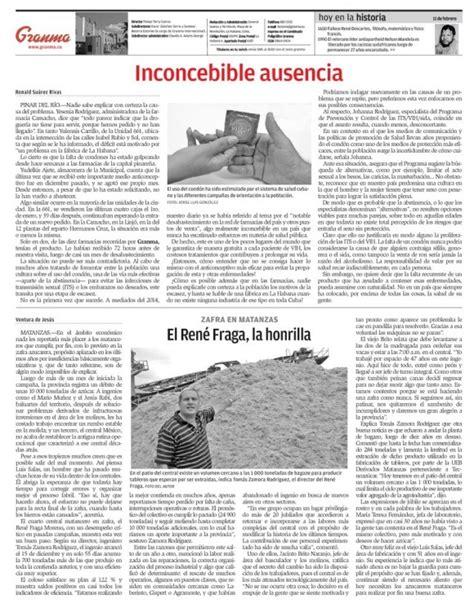 by facturaxion mircoles 11 de febrero de 2015 qu 233 trae la prensa cubana mi 233 rcoles 11 de febrero de 2015