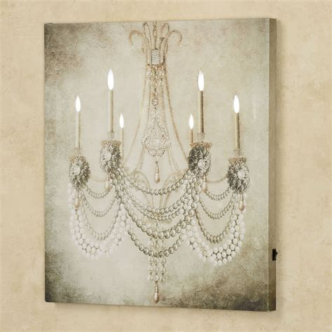 Painting Of Chandelier Vintage Chandelier Led Lighted Canvas