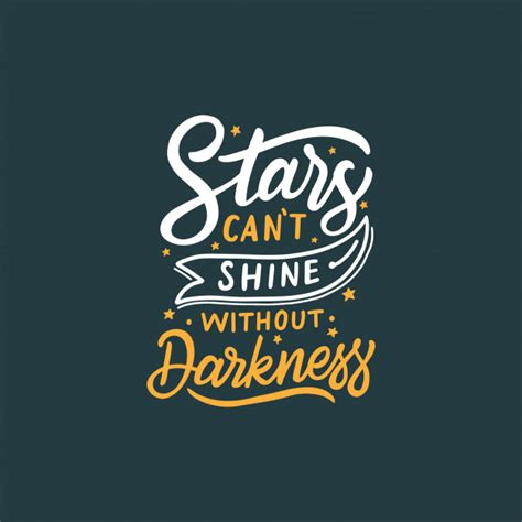 Tshirt Kaos Kata Quote Motivasi Knowing Darkness typography lettering design quote quot can t shine without darkness quot vector