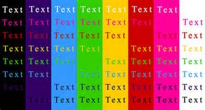 text color functions of colors