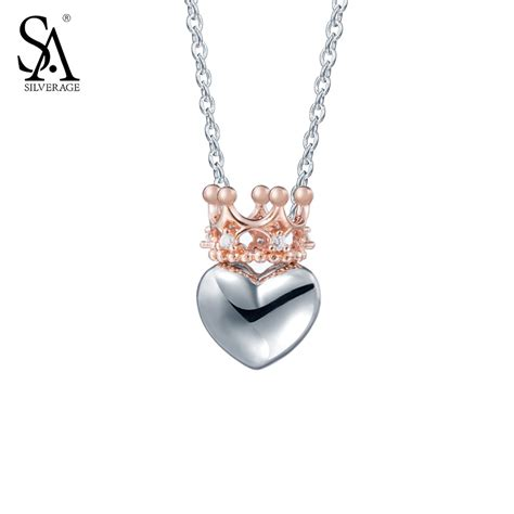 Shopping Charm Necklace by Silverage Real 925 Sterling Silver Necklaces Pendants