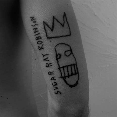 basquiat tattoo sugar robinson basquiat inspired