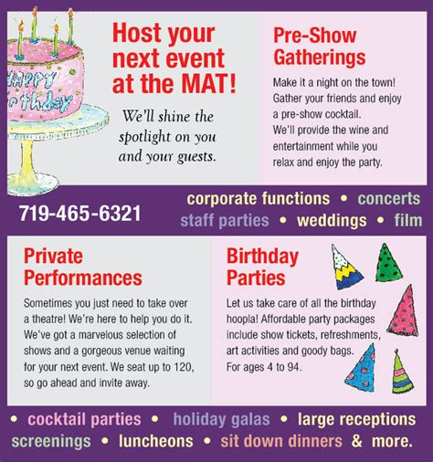 The Mat Colorado Springs by Rent The Mat Millibo Theatre
