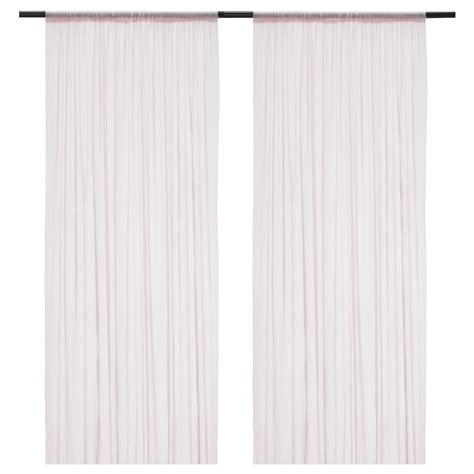 ikea pink curtains hildrun sheer curtains 1 pair pink dotted 145x250 cm ikea