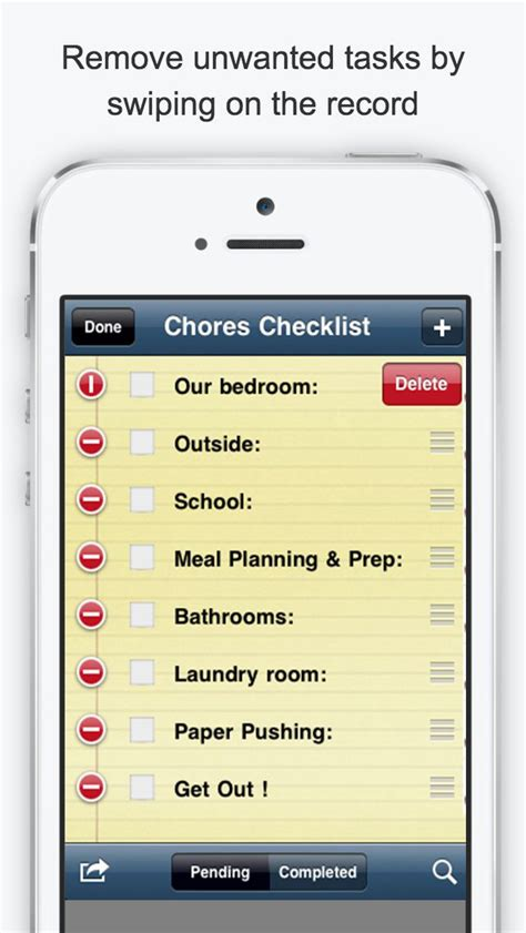 household checklist chore list house cleaning checklist