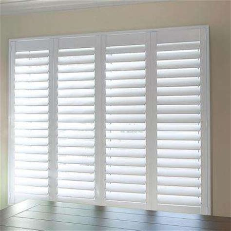 Home Depot Wood Shutters Interior Faux Wood Shutters Interior Shutters Blinds Window Treatments The Home Depot