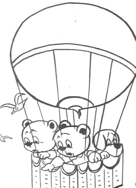 Free Printable Hot Air Balloon Coloring Pages For Kids Air Coloring Pages