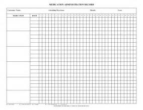 Medication Record Form Template by 9 Best Images Of Printable Medication Administration